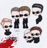 Reservoir Chibis color by Artwaste