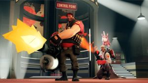 SFM Poster: Right behind you Heavy! by PatrickJr