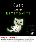 Woot Shirt - Cats Are My Kryptonite by fablefire