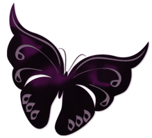 Purple Satin Butterfly .png by Bubblegum73