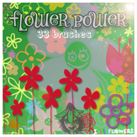 Flower Power brushes by blitherjust