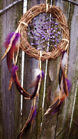 Amethyst Dream Catcher by xsaraphanelia