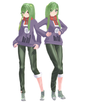 [MMD Newcomer] Kido Tsubomi -Ponytail ver.- by SapphireRose-chan