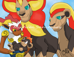 The Pyroar King: Lion King and Pokemon Mash-up by ChiiLissa