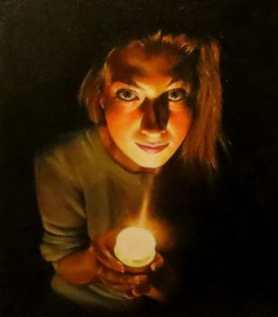 Self Portrait in Oil Paint by EnigmaticDoodle
