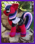 mlp plushie commission DEADPOOL TWILIGHT SPARKLE by CINNAMON-STITCH