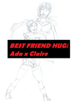 Ada and Claire's Best Friend Hug by angelDX