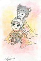 Suikoden: Chibi Frey and Lyon by ChiisaYanagi