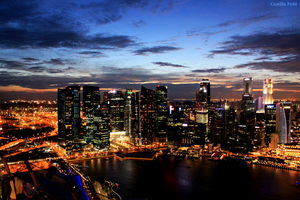 Singapore by Night by camsmac