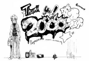 Thank you for 2000 pageviews by zzpopzz