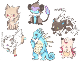 Pokemon Hybrid Adopts by PinkMelodii