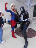 Ms. Marvel and Agent Venom by pa68