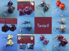 Nerd Dice Earrings by tursiart
