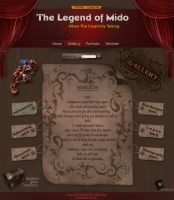 The Legend of Mido Web Site by mido4design