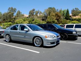 silver and blue Volvo S60R by Partywave