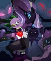 Spike Vs Nightmare Rarity by ss2sonic