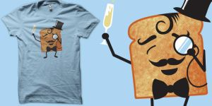 sir Toast makign a toast shirt by biotwist