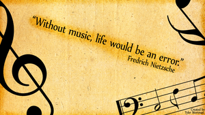 Friedrich Nietzsche Music quote background by Blue-Falcon-Serenity