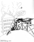 A wasp came into the office.. by KekPafrany