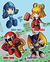 Megaman - The Protagonists by Felolira