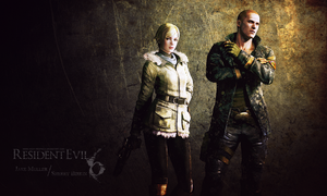 Jake Muller n Sherry Birkin wall by Queen-Stormcloak