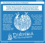 The Flaming Of The Library Of Wikipedia by schizmatic