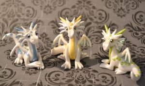 Three Frosty Dragons by insanable