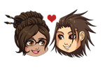 (ENR) Alvin x Nell Chibi Heads by Exagora