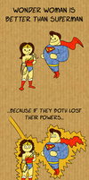 Wonder Woman is better than Super Man by spaced-brain