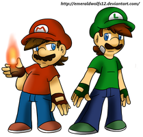 Mario and Luigi by MariobrosYaoiFan12