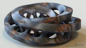 Moebius FX sculpture - material rusty 1 with iray by Bernd-Haier