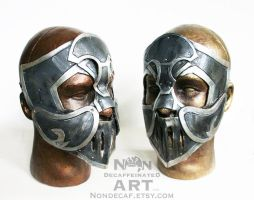 Close up of Armor knight masks by nondecaf