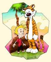 Calvin e Haroldo (colours) by ferdicamacho