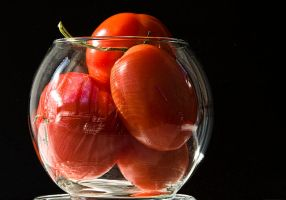 Tomatoes on Black by muffet1