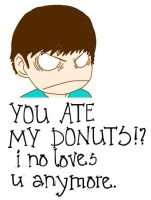 No One Touches My Donuts. by Ask-Insane-IanH