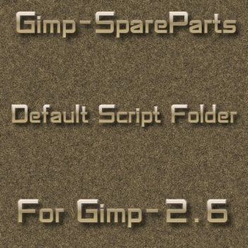 Gimp2.6 default scripts folder by photocomix-resources