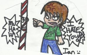 Ian and the Barber Shop Pole by FairyKats