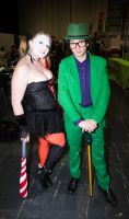 MCM Expo Oct 2014 83 - Harley and Riddler by cosmicnut