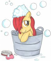 Applebloom's Bathtime by Himawari-chan