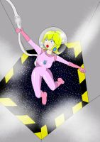 Peach In Space Colored by Dr-Scaphandre