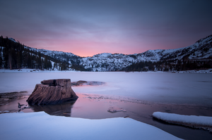 Red Lake Winter by EtherealSceneries