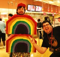Phoenix Comicon 2011 2xRainbow by Recycledhero