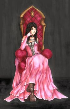 Thought on the throne by Likoda