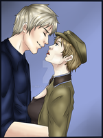 Germancest- Share an awesome kiss by Mira-chii