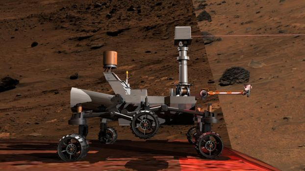 3D Mars Rover Test Render Side view WIP 2 by Natefurry