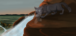 Epic Waterfall Slide Impending - Commission by Nala15