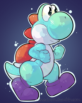 Light Blue Yoshi - Day 1369 by Seracfrost