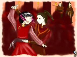 Mai and Zuko Dancing by doini