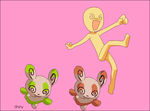 327(Spinda)- Pokemon and trainer base. by Miko-No-Base