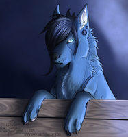Blue mind (speedpaint video) by Saiccu
